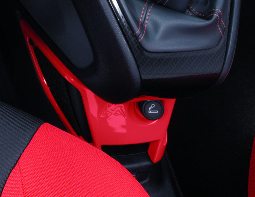 Ford Ka Centre Console Mounted Storage Net Sunrise Red