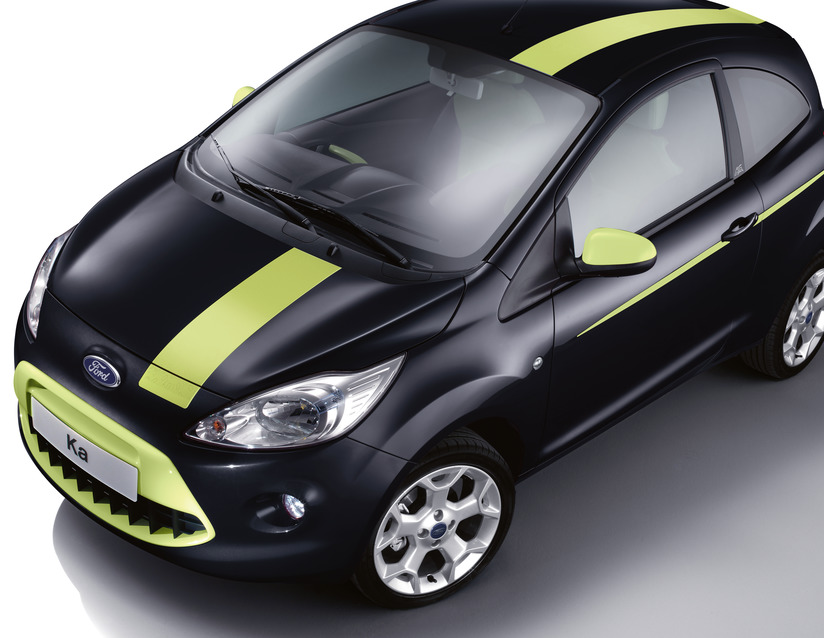 Ford Ka Grand Prix Roof Bonnet Tailgate Stickers Jump Green