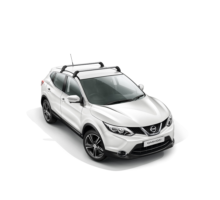 Nissan Qashqai Roof Bars In Aluminium Vehicles Without