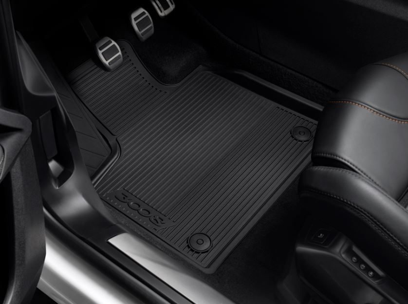 genuine peugeot 3008 rhd rubber floor mat set 2017 onwards 1616435180 ebay. Black Bedroom Furniture Sets. Home Design Ideas