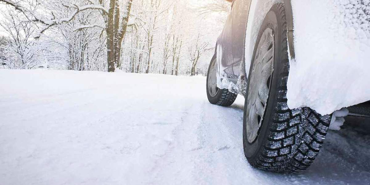 winter tyres on a car